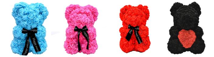 Αρκούδος από τριαντάφυλλα