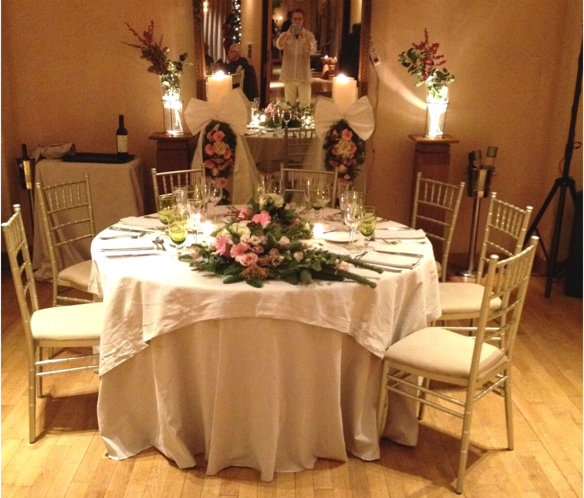 Wedding Table Reception Flower Decoration Christmas
