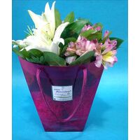Flowers in water bag