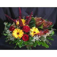 Basket with amaranthus