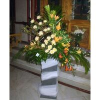 Wedding church flower arrangement