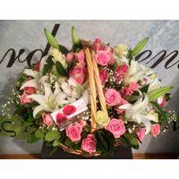Πάρτι Ροζ Λουλουδιών σε Καλάθι !!! Ανθοπωλείο flowershop.gr