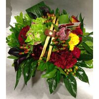 "Basket with exclusive Red & ""Black"" Flowers !!!"