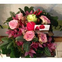 Εορταστικές συνθέσεις Λουλούδια με Κεριά. Χριστουγέννων & Πρωτοχρονιάς.