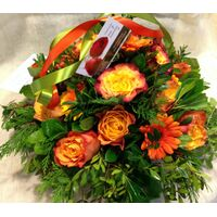 Flower  arrangement with orange flowers