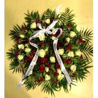Συλλυπητήριο  Στεφάνι με τριαντάφυλλα