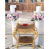 Λαμπάδες γάμου με στεφάνια