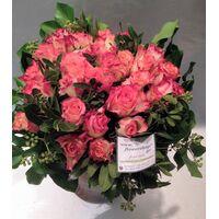 Μπουκέτο πορτοκαλί τριαντάφυλλα