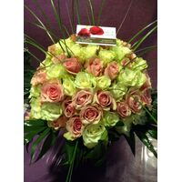 Pink & White Roses Roses Bouquet !!!