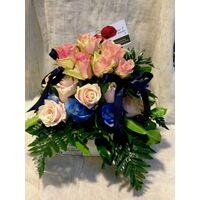Μπλε & Ροζ Τριαντάφυλλα  Για Δίδυμα