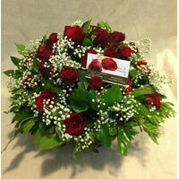 (31) red roses basket  Extra Quality Dutch !!! Super week Offer.