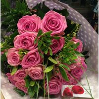 Pink  Roses (20+) stems gift wrapped.