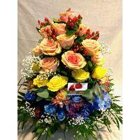 Σύνθεση με ιδιαίτερες ποικιλίες λουλουδιών σε καλάθι. Ουρανός με Λουλούδια !!!