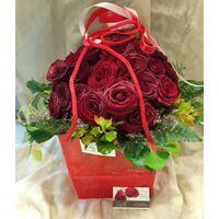 Τριαντάφυλλα Κόκκινα (31) τεμ. Σε Τσάντα Διακοσμητική (Συσκευασία με νερό).