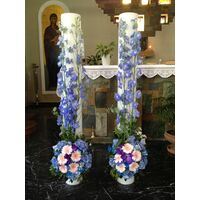 "Wedding candles ""Blue Vanda"" Summer Theme!"