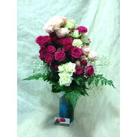 Roses Spray Bouquet + Vase