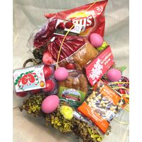 Basket with Easter Gourmet Delicacies