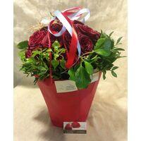 Πασχαλινό Μπουκέτο με Κόκκινα Τριαντάφυλλα !! (21) τεμ. & Διακόσμηση !!