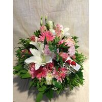 Arrangement for new born baby girl . Pot or basket !! Special