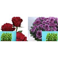 Προσφορά Εβδομάδας Σύνθεση Κόκκινα Τριαντάφυλλα Upper Class + Brassicas + Κερωμένα (Φυσικά) Αχλάδια !!!