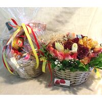 Easter Twins !! Basket with Flowers !! Basket with Delicacies !!