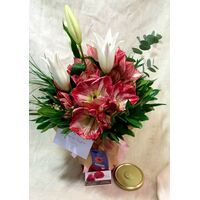 Amaryllis  In Marmalade Glass Jar ! Exclusive !!!