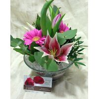 Mixed Flowers in Glass & Decoration !!! 10,00€