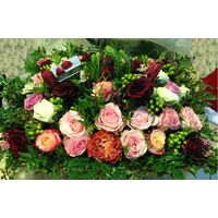 Ecuador roses.Big basket 0,65m.x0,50m. full of flowers!!!