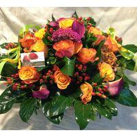 Σύνθεση με ιδιαίτερες ποικιλίες λουλουδιών σε καλάθι. Καυτό Καλοκαίρι  !!!