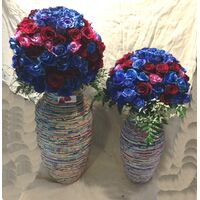 "Exclusive ""Paper Collage"" Vase Set !!! With ""Rose Balls""  250 stems total."