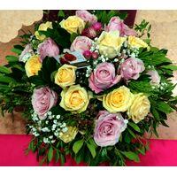 Καλάθι με ecuador (τα καλύτερα σε όλον τον κόσμο) τριαντάφυλλα