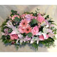 Ροζ Βασίλισσα. Μεγάλο Καλάθι. Βασιλικά Λουλούδια.