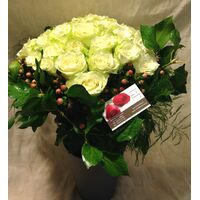 (36) white !!! roses Extra Quality Bouquet !!!