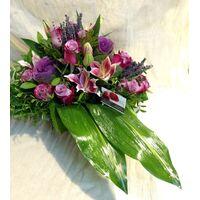 Συλλυπητήριο  Καλάθι  Με Λουλούδια