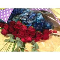 Blue & Red Roses (50 total) stems exclusive !!!