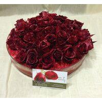 Τούρτα κόκκινα τριαντάφυλλα