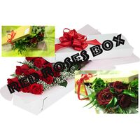 Box with roses