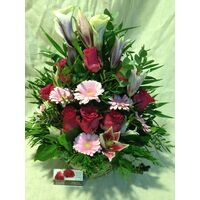 "Flower arrangement ""pink & red"""