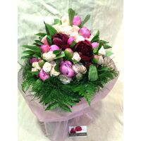 Paeonias (50)  stems & Pink Roses  (30)  stems Exclusive  Bouquet.