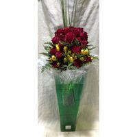 Τριαντάφυλλα Εκουαδόρ +60 τεμ. Μεγάλο Βάζο Δαπέδου +70εκ ύψος.