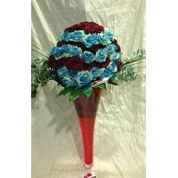 Τριαντάφυλλα Εκουαδόρ Κόκκινα & Μπλε 120 τεμ. Μεγάλο Βάζο Δαπέδου +70εκ ύψος.