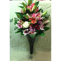 Βάζo Χειροποίητο  +50 Τριαντάφυλλα Εκουαδόρ