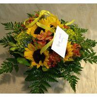 Καλάθι Με Ηλίανθους & Λουλούδια Εποχής.