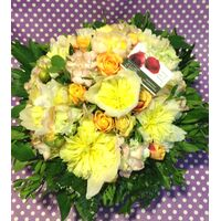 Basket with paeonias and seasonal flowers!!!