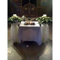 """Λαμπάδες γάμου Με """"Κάλλες Στεφανια"""" & Λουλούδια Εποχής."""