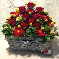 Τριαντάφυλλα τυπωμένα (το μήμυμά σας ...) - (20) τεμ. Σύνθεση με άνθη εποχής. Ιδιαίτερο !!!