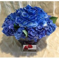 Blue Roses (30 total) stems arrangement in glass exclusive !!!