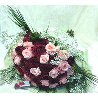 Τριαντάφυλλα Ροζ & Κόκκινα (20)+(20) τεμ. Μπουκέτο σε Βάζο!!!