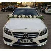 Wedding auto front side !!! Garland.