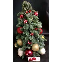 Χριστουγεννιάτικο Δένδρο (Σύνθεση από Έλατο Abies Nobilis) 30εκ. Διακοσμημένο.